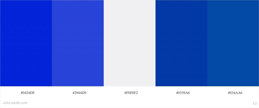 Winter Brand Personality color palette or color theme