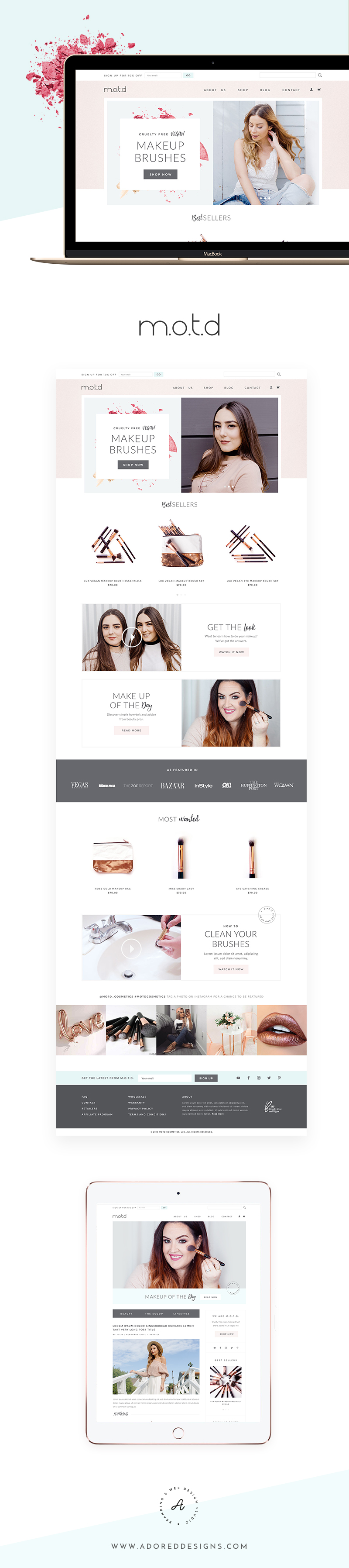 Website For M O T D Cosmetics On