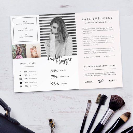 Fashion Lifestyle Blogger Media Kit Photoshop Template