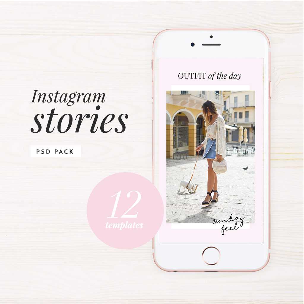 Instagram Stories Pack Photoshop Template