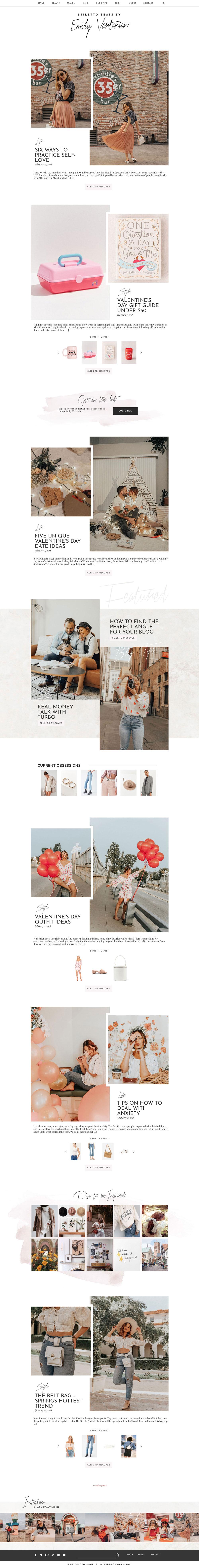 Stiletto Beats, Emily Vartanian new website by Adored Designs