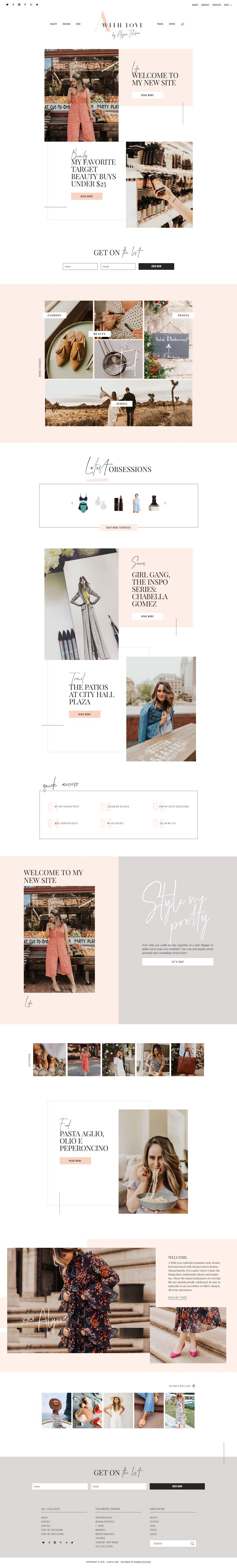 Alyssa Taliaferro - Lifestyle Blogger design on WordPress Adored Designs