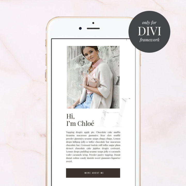 Instagram hub page layout for DIVI better than LinkTree