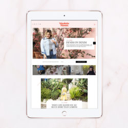 Just launched – Blog design for Nicolette Mason