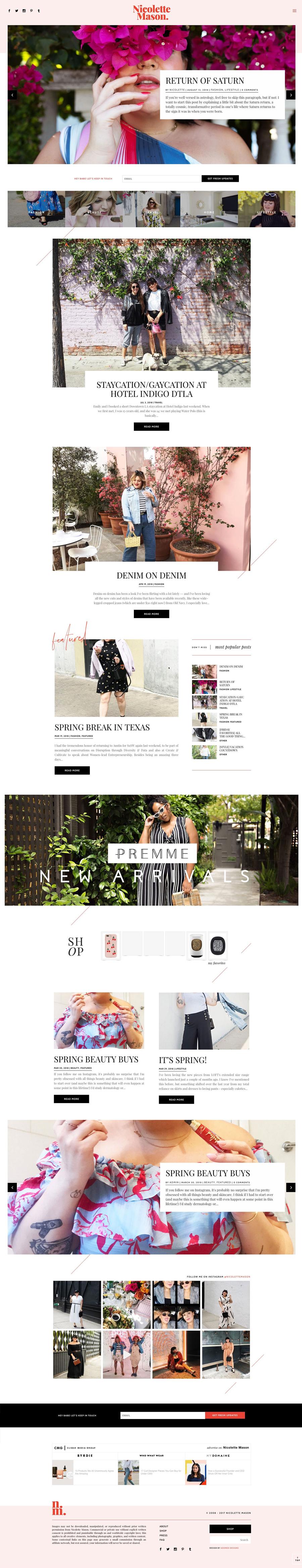 Alyssa Taliaferro - Lifestyle Blogger design on WordPress Adored Designs