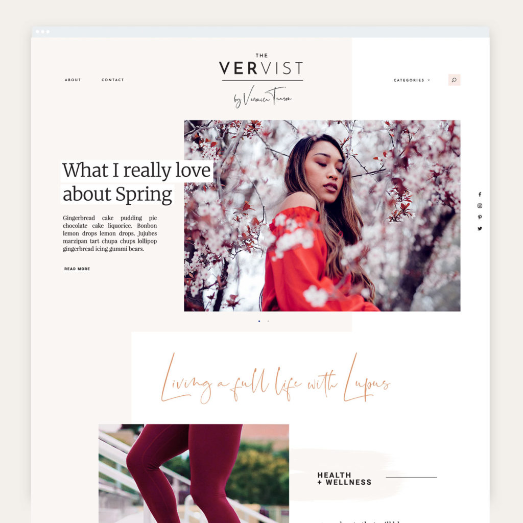 Blog design for Veronica Tuason of The Vervist