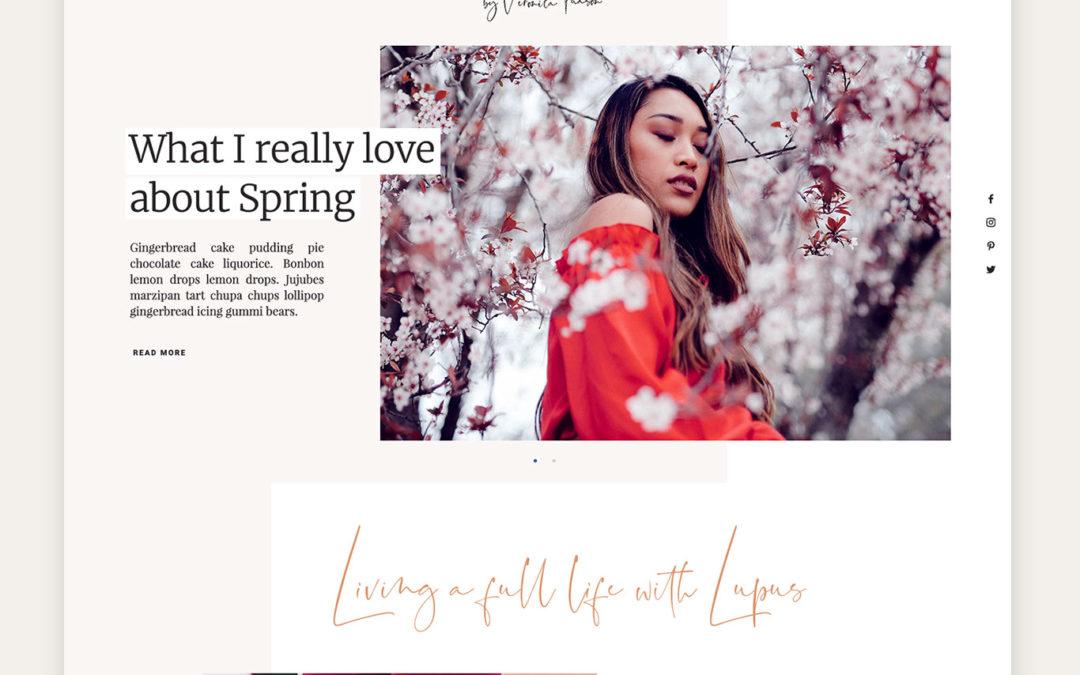 Blog design for Veronica Tuason of The Vervist