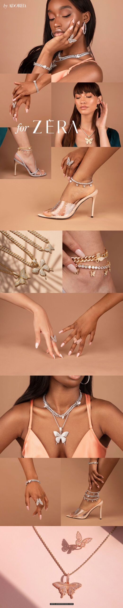Photoshoot we've done for ZERA  - Luxe Jewellery Brand, to help increase their prices.
